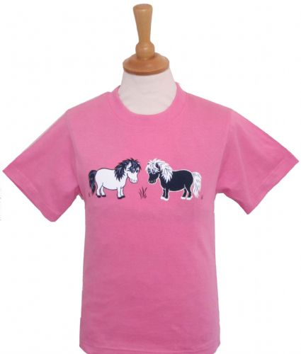British Country Collection 'Two Shetlands' T-Shirt 11-13yrs